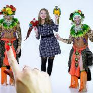 Рекламный ролик «Фотографии с попугаями»
