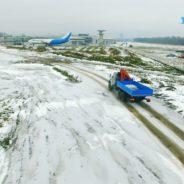Аэросъемка тест-драйва автомобилей