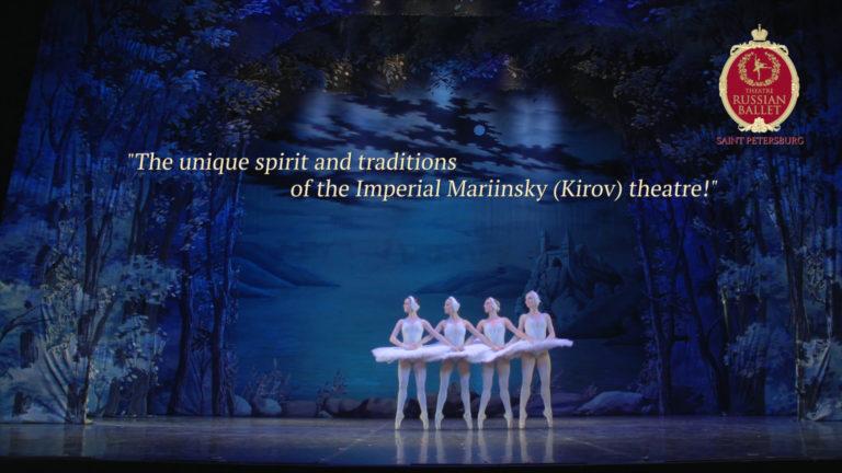 Приступая к этой работе, мы понимали, что обязаны как можно более полно передать ту атмосферу, которая царит в зрительном зале во время спектакля. Но мы знаем, что именномногокамерная съемка позволяет учитывать все особенности замысла балетмейстера и обеспечивает «эффект присутствия» зрителям, не попавшим в театр.     Промо ролик «Лебединое озеро», 2мин 10сек   Создание промовключало в себя следующие этапы и сервисы продакшн студии:   препродакшн разработка концепции  правоустанавливающие документы   продакшн планирование, согласование,организация и проведение съемки  съемочная группа  оборудование  многокамерная съемка  DIT  плэйбэк  монтаж на съемочной площадке   постпродакшн монтаж  цветокоррекция  компьютерная графика  удаление посторонних объектов  световые эффекты  компоузинг  графическое оформление  титры  углубленная цветокоррекция  звуковое оформление  сведение звука    Мы обязаны были перенести на экран и выразительность образов, и одухотворенностьисполнителей, и те принципы движения, которые создают обаяние балета «Лебединое озеро» и по которым знатоки во всем мире безошибочно узнают русскую классическуюбалетную школу. Высокопрофессиональная съемка спектаклей для нашей команды не просто слова. Обладая немалым опытом, мы выполнили этот заказ так, что при просмотре ролика зрителям кажется: они действительно находятся в театре и погружаются в уникальную атмосферу балета. Заказчик также отметил, что ролик дает возможность увидеть профессионализм труппы, насладиться музыкой и танцем, то есть почувствоватьвсю полноту особых ощущений. Как уже было сказано, передать посредством видеоматериала уникальный дух и традиции исполнения балетных произведений труппой театра «Русский балет» нам помогла многокамерная съемка. Она позволяет получить зрелищный материал, не упустив ни одного важного и интересного момента спектакля. Необходимо добавить, что съемка балетов – это возможность не дать уйти в небытие великим постановкам. К сожалению,многие спектакли после окончания с